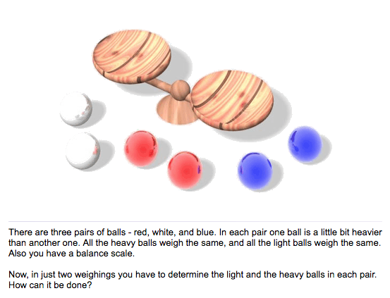 Red White and Blue Balls