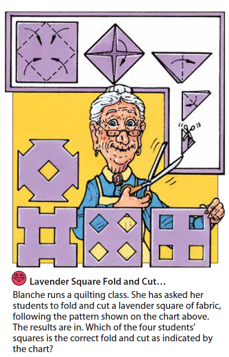 Lavender Square Fold and Cut