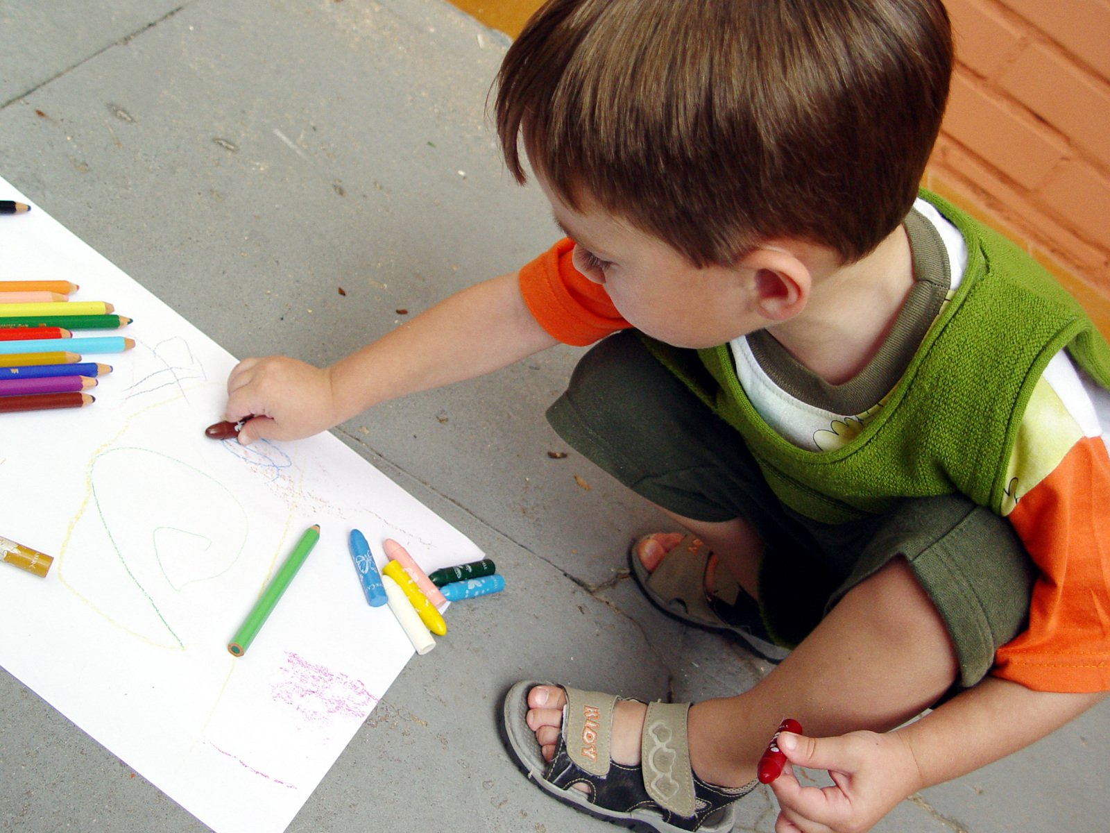 Distance Learning - Child Drawing