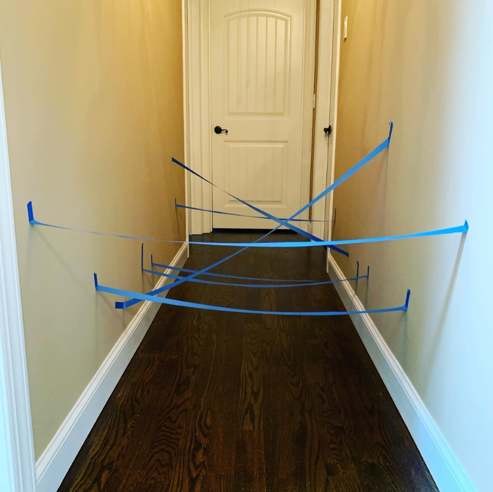Indoor Obstacle Course - Taped Hall