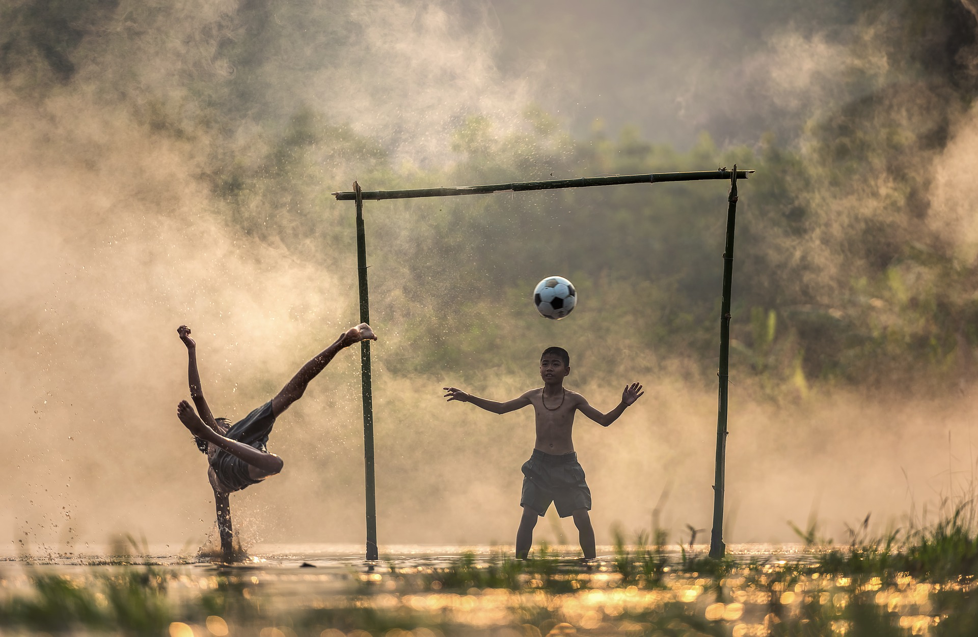 Why should children often play outdoor games